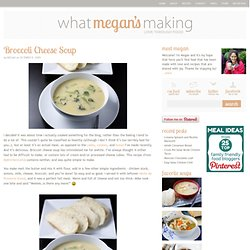 Broccoli Cheese Soup - What Megan's Making