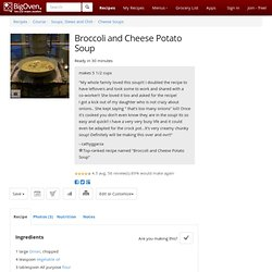 Broccoli and Cheese Potato Soup recipe