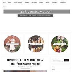 BROCCOLI STEM CHEESE // anti-food waste recipe