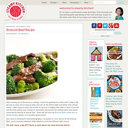 Broccoli Beef Recipe | Steamy Kitchen