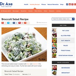 Broccoli Salad Recipe - Dr. Axe