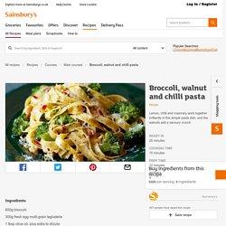 Broccoli, walnut and chilli pasta