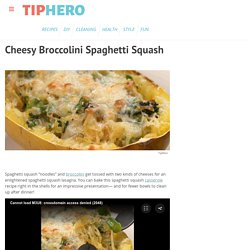 Cheesy Broccolini Spaghetti Squash - Recipe