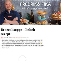 Broccolisoppa – Enkelt recept