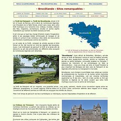 Brocéliande : Sites Remarquables
