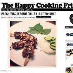 Bò nướng sả - Brochettes de boeuf grillé à la citronnelle