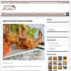 brochettes de crevettes grillées aux sésames