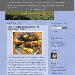BROCHETTES DE CREVETTES ET SAUCISSES CAJUN