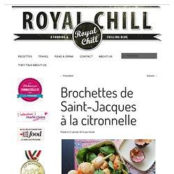 Brochettes de Saint-Jacques à la citronnelle