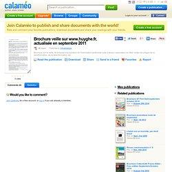 Brochure veille sur www.huyghe.fr, actualisée en septembre 2011