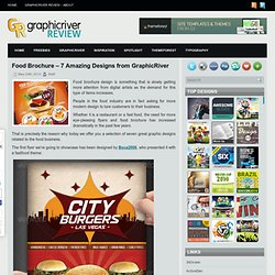 Food Brochure - 7 Amazing Designs from GraphicRiver