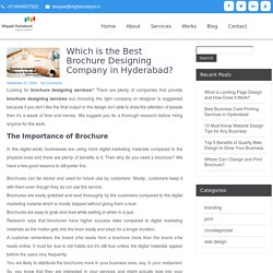 Which is the Best Brochure Designing Company in Hyderabad – Visual Catalyst
