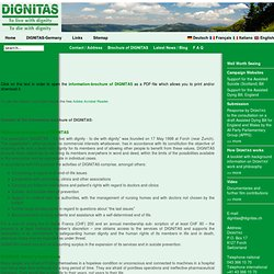 Brochure of DIGNITAS