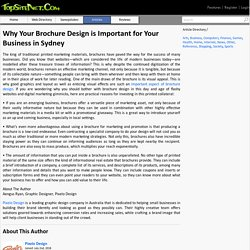 Why Your Brochure Design is Important for Your Business in Sydney