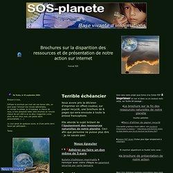 Brochure à imprimer fin des ressources de notre planete