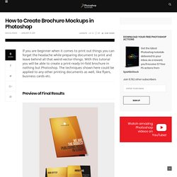 How to Create Brochure Mockups in Photoshop - Photoshop Tutorials