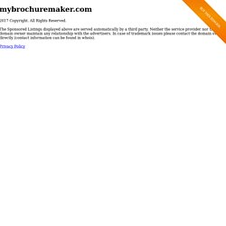 Create a brochure or flyer in five easy steps :: Welcome to MyBrochureMaker.com
