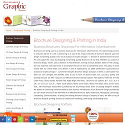Pamphlet Design Company in New Delhi