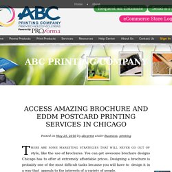 Access Amazing Brochure and EDDM Postcard Printing Services in Chicago