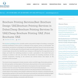 Brochure Printing Services in Dubai