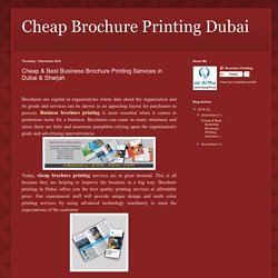 Cheap & Best Business Brochure Printing Services in Dubai & Sharjah