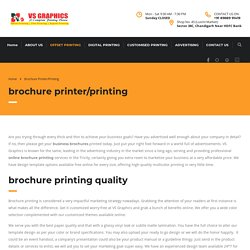 Online Brochure Printing Service in Tricity