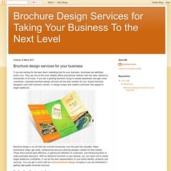 Brochure design services for your business