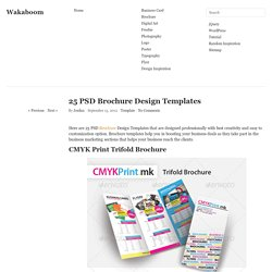 25 PSD Brochure Design Templates