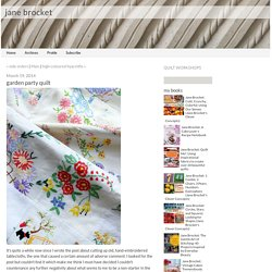 jane brocket: garden party quilt