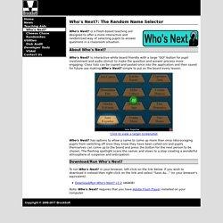 BrockSoft Who's Next? - A free Flash-based random name selector