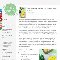 Cake au brocoli, ciboulette & fromage blanc -