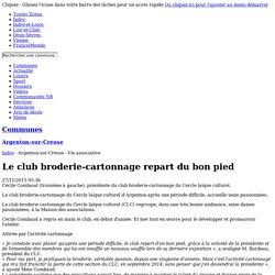 Le club broderie-cartonnage repart du bon pied - 27/11/2015, Argenton-sur-Creuse (36)