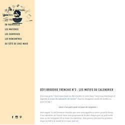 Défi broderie frenchie n°3 : Les motifs du calendrier - Artesane