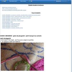 COURS 5 BRODERIE - galon de plougastel - point laouig et sa variante - Le blog de sophie