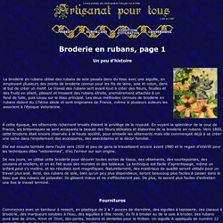 Broderie en rubans - Artisanat pour tous
