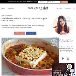Feta rôtie aux tomates et aux câpres