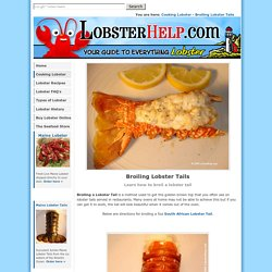 Broiling Lobster Tails - Learn How to Broil a Lobster Tail