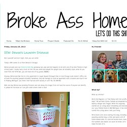 Broke Ass Home: DIW: Denise's Laundry Storage