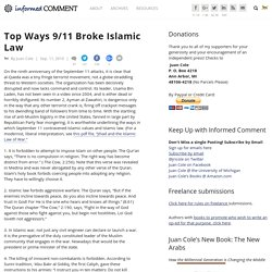 Top Ways 9/11 Broke Islamic Law
