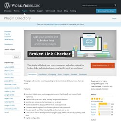 WordPress › Broken Link Checker « WordPress Plugins