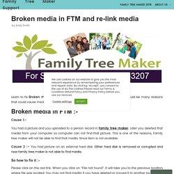 Broken media in FTM