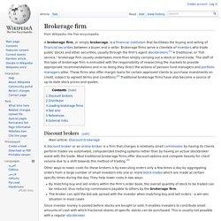 Brokerage firm