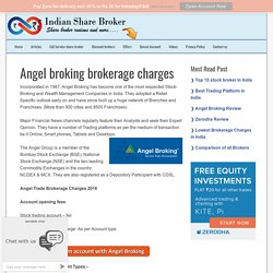 Angel broking brokerage charges
