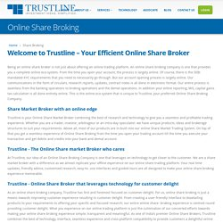 Want an Online Share Broker? - Trustline