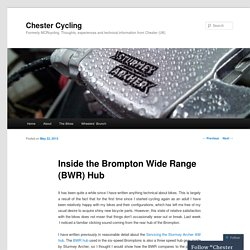Inside the Brompton Wide Range (BWR) Hub