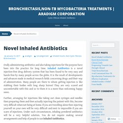 Bronchiectasis,Non-Tb Mycobacteria Treatments