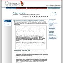 Tous les articles en Une ''Bronchiolites des nourrissons: pas de kinésithérapie respiratoire '', 12 décembre 2012