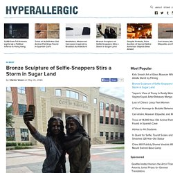 Bronze Sculpture of Selfie-Snappers Stirs a Storm in Sugar Land