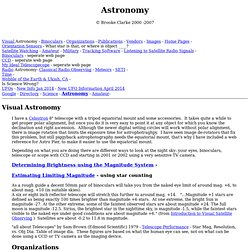 Brooke's Astronomy page