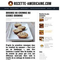 Brookie ou crownie ou cookie-brownie